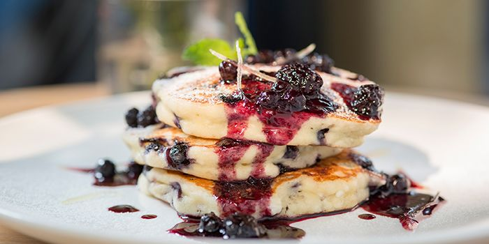 Blueberry Lemon Ricotta Pancake from Al's Diner in Xuhui, Shanghai