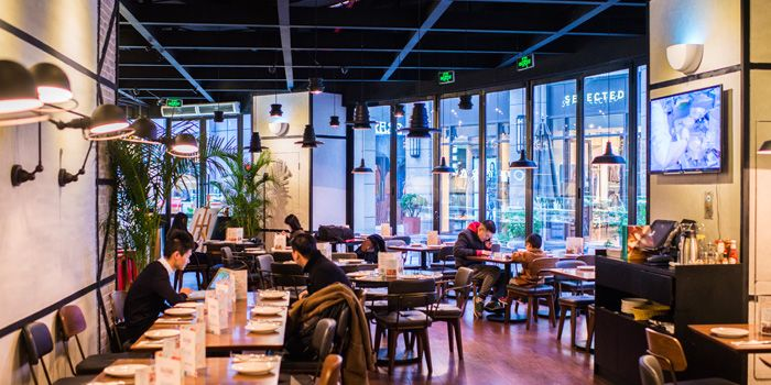 Interior of Alla Torre (Chamtime Plaza) in Pudong, Shanghai