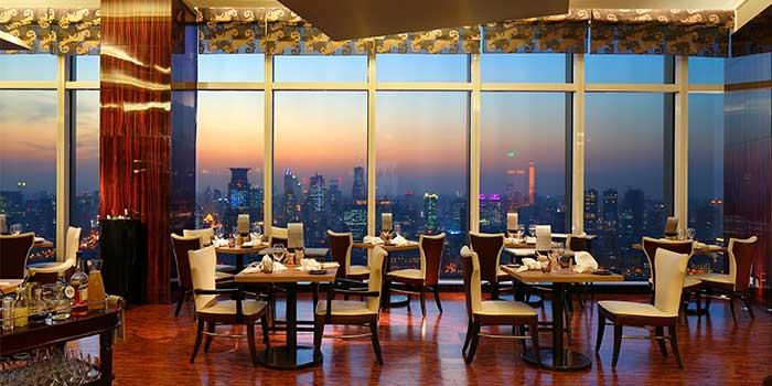 Interior of Jade on 36 Restaurant in Pudong, Shanghai