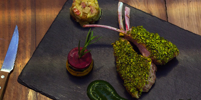 Main Course of Epices & Foie Gras Located in People