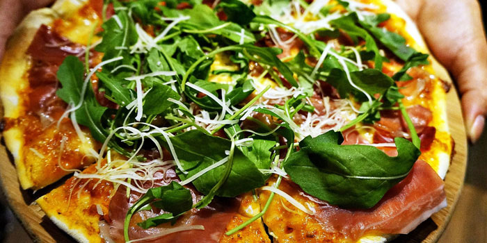 Pizza Ham Arugula from JustGrapes in Anfu Lu, Shanghai