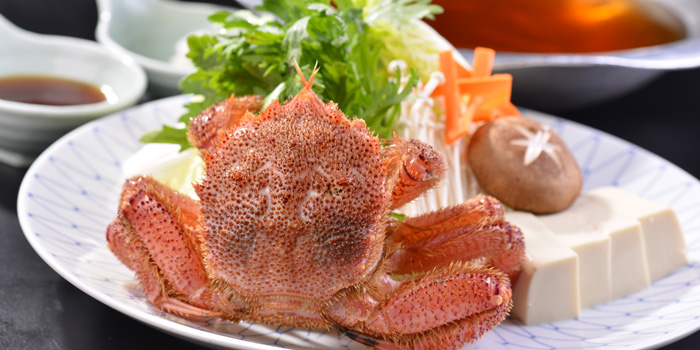 Crab of Yin Ping Japanese Restaurant  located in Shanghai World Financial Center