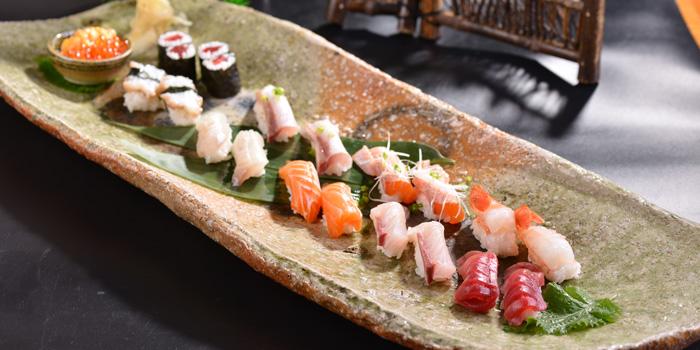 Sushi plate of Yin Ping Japanese Restaurant located on Xianxia Lu