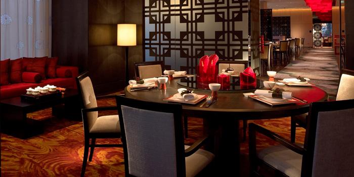 Indoor of Gui Hua Lou located in Pudong Shangri-La, Shanghai