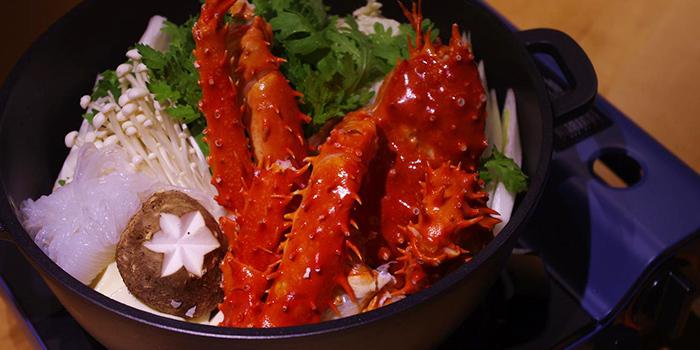 King Crab Hot Pot from Sushi Raku located in Jing