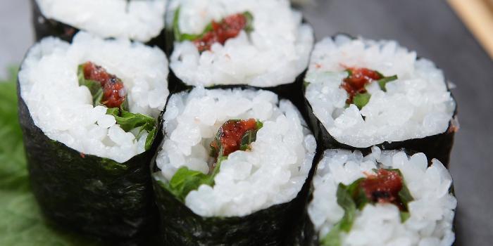 Sushi Raku Shiso and Plum Roll from Sushi Raku located in Jing