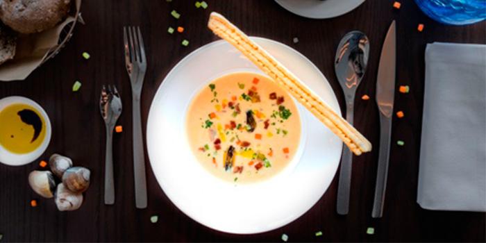 New-England-clam-chowder of POP American Brasserie located on Zhongshan Dong Yi Lu, Huangpu District, Shanghai, China