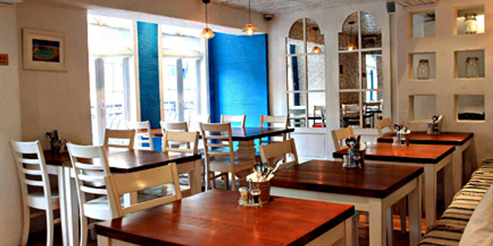 Indoor of Greek Taverna Milos located on Laowaijia, Minhang District, Shanghai, China