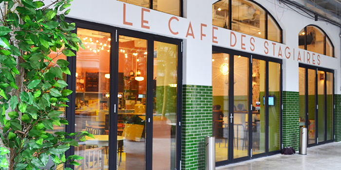 Exterior of Cafe des Stagiaires (Julu Lu) located in Luwan, Shanghai