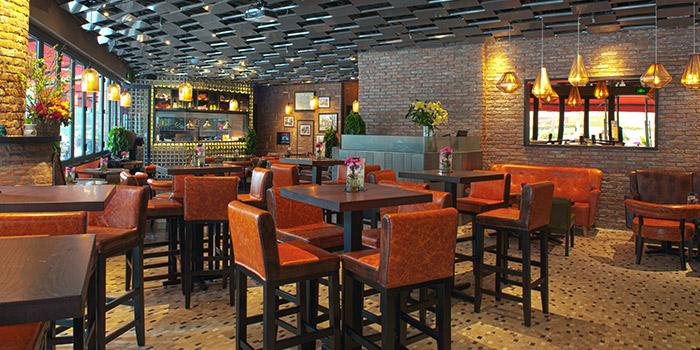 Interior of Brownstone Tapas & lounge located on Yongjia Lu