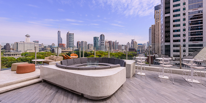 Outdoor View of Highline located on Huaihai Zhong Lu, Luwan District, Shanghai, China