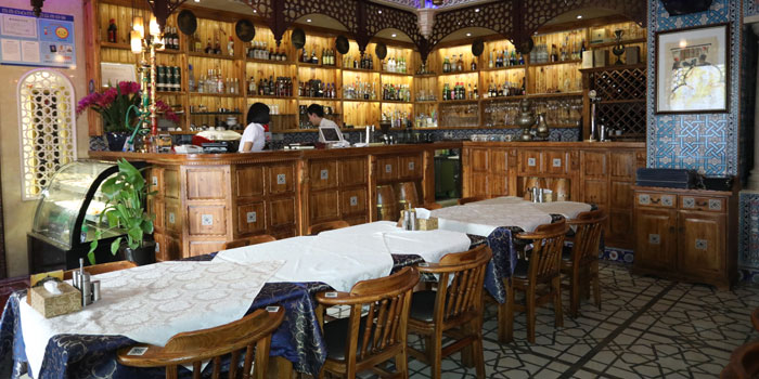 Indoor of 1001 Nights Restaurant located on Hengshan Lu, Xuhui , Shanghai