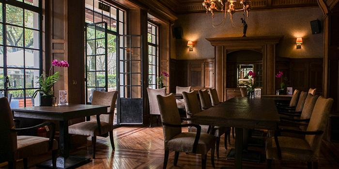 Interior of La Villa Rouge located in Xuhui, Shanghai