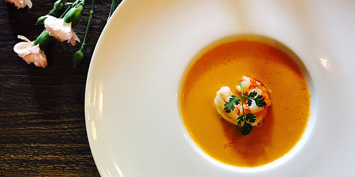 Lobster Bisque from La Villa Rouge located in Xuhui, Shanghai