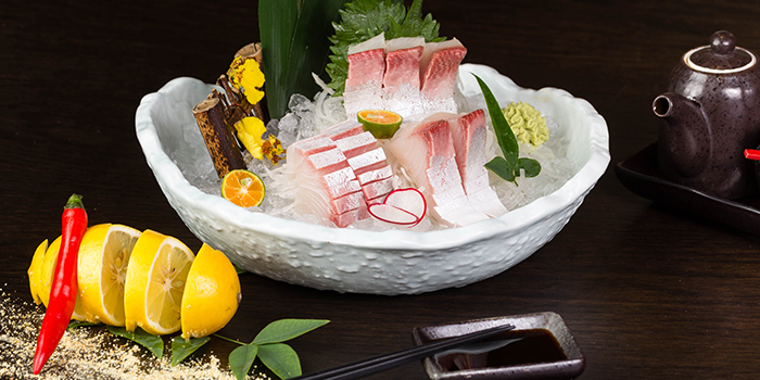 Sashimi from Dozo Modern Dining Bar located in Jing