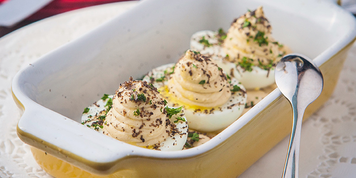 Devilled Eggs from Le Bouchon located on Wuding Xi Lu, Changning, Shanghai