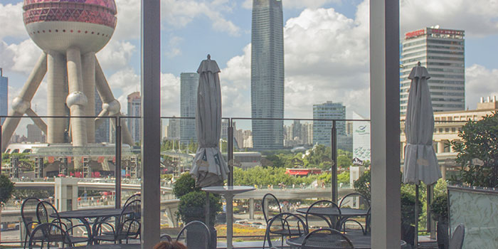 Indoors of Isola Italian Bar + Grill located in Pudong, Shanghai