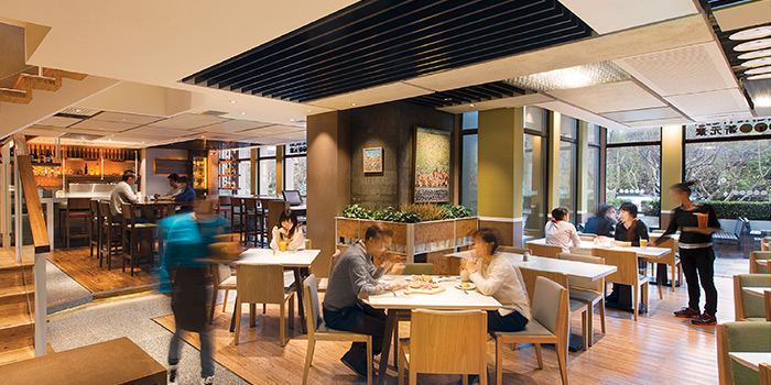 Interior of Element Fresh Shanghai Center located on Nanjing Xi Lu, Jing