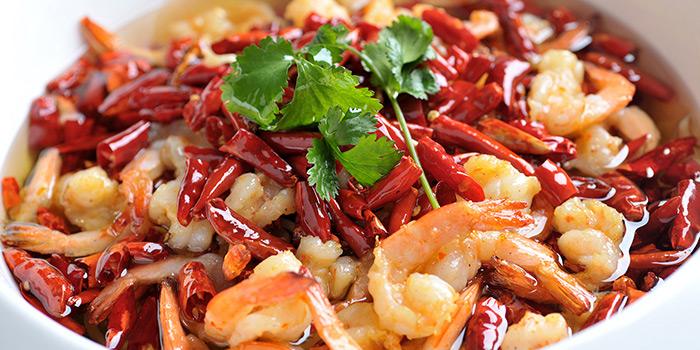 Shrimps from Tian La Green Fashion Restaurant (Jin Hongqiao) located in Changning, Shanghai