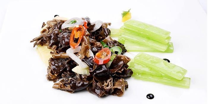Stir-fried Bachu Mushroom of WUJIE Shanghai World Financial Center located in Pudong, Shanghai
