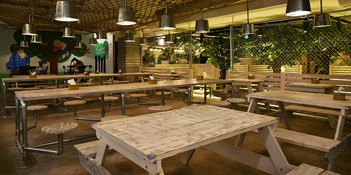 Seating Area of Green & Safe (Hongqiao) located in Minhang, Shanghai