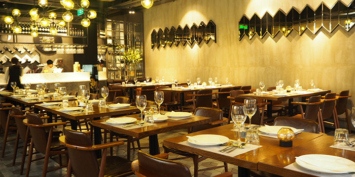 Dining-area of MIRACOLO located in Pudong, Shanghai