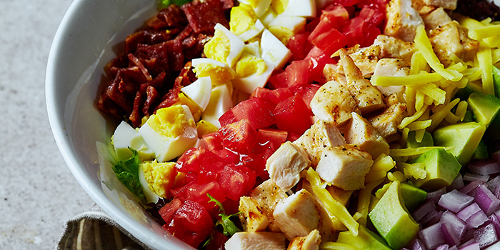 Cobb Salad of Element Fresh (Shanghai World Financial Center) located in Pudong, Shanghai