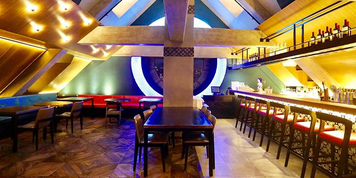 Interior of Azul Tapas & Lounge located in Huangpu, Shanghai
