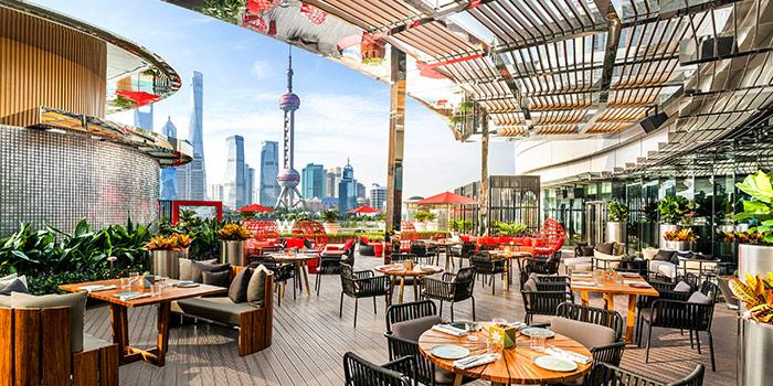 Terrace of The Kitchen Table (W Shanghai - The Bund) located in Hongkou, Shanghai