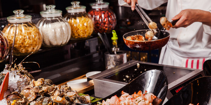 Cooking Station of Yi Cafe (Shangri-La Pudong) located in Pudong, Shanghai