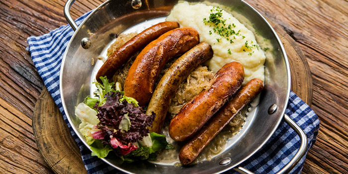 Sausages from Zeitgeist located on Haifang Lu, Jing
