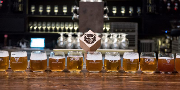 Indoor of Stone Brewing Tap Room Shanghai located in Changning District, Shanghai,