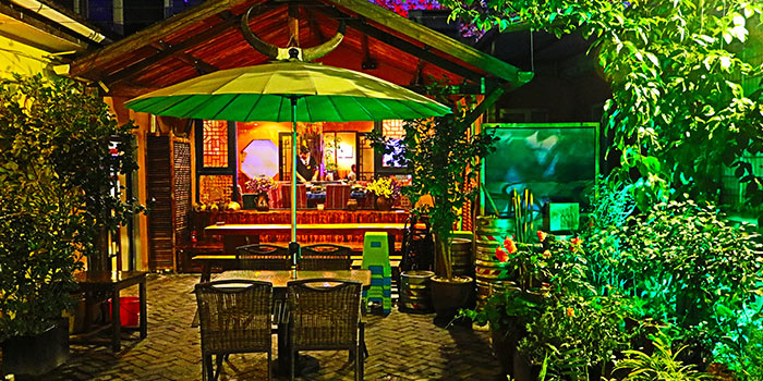 Outdoor of Lotus Eatery located in Changning, Shanghai
