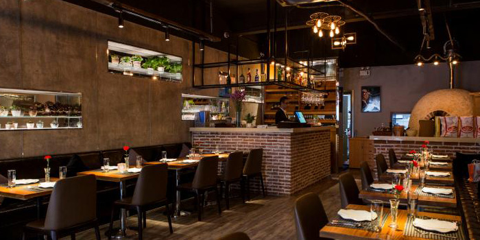 Indoor of Jstone. Italian Kitchen & Bar (Hongmei Lu) located in Changning, Shanghai