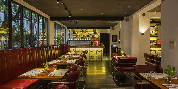 Interior of The Bull and Claw located in Xuhui, Shanghai