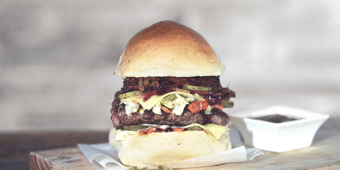 Burger from MUST Grill on Wuding Lu, Jingan, Shanghai