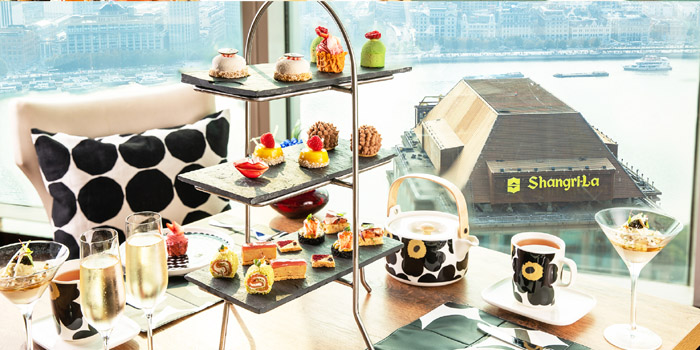 Afternoon Tea of Jade on 36 Restaurant in Pudong, Shanghai