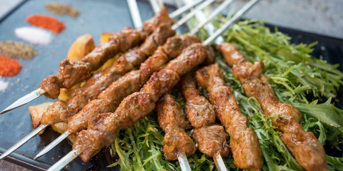 Charcoal-grilled Meat Skewers of Xibo located on Changshu Lu, Jing