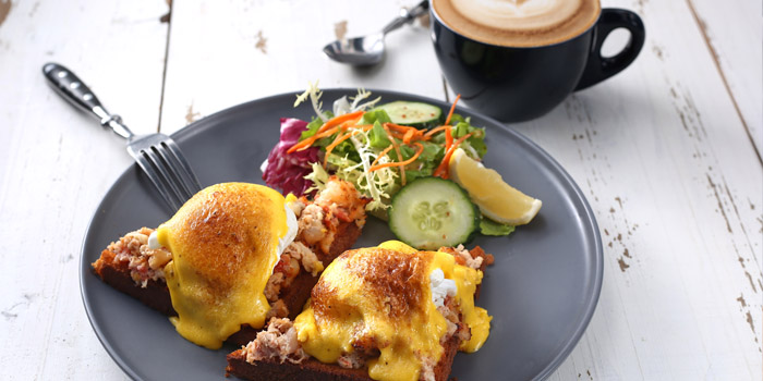 Mixed Seafood Benedict from Odelice! (Xinle Lu) located in Xuhui, Shanghai