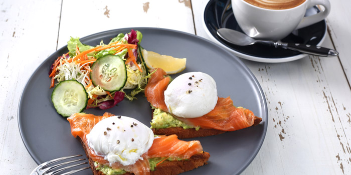 Salmon Poached Eggs from Odelice! (Xinle Lu) located in Xuhui, Shanghai