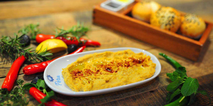 Hummus of Pera Turkish Restaurant & Bar located on Julu Lu, Huangpu District, Shanghai, China