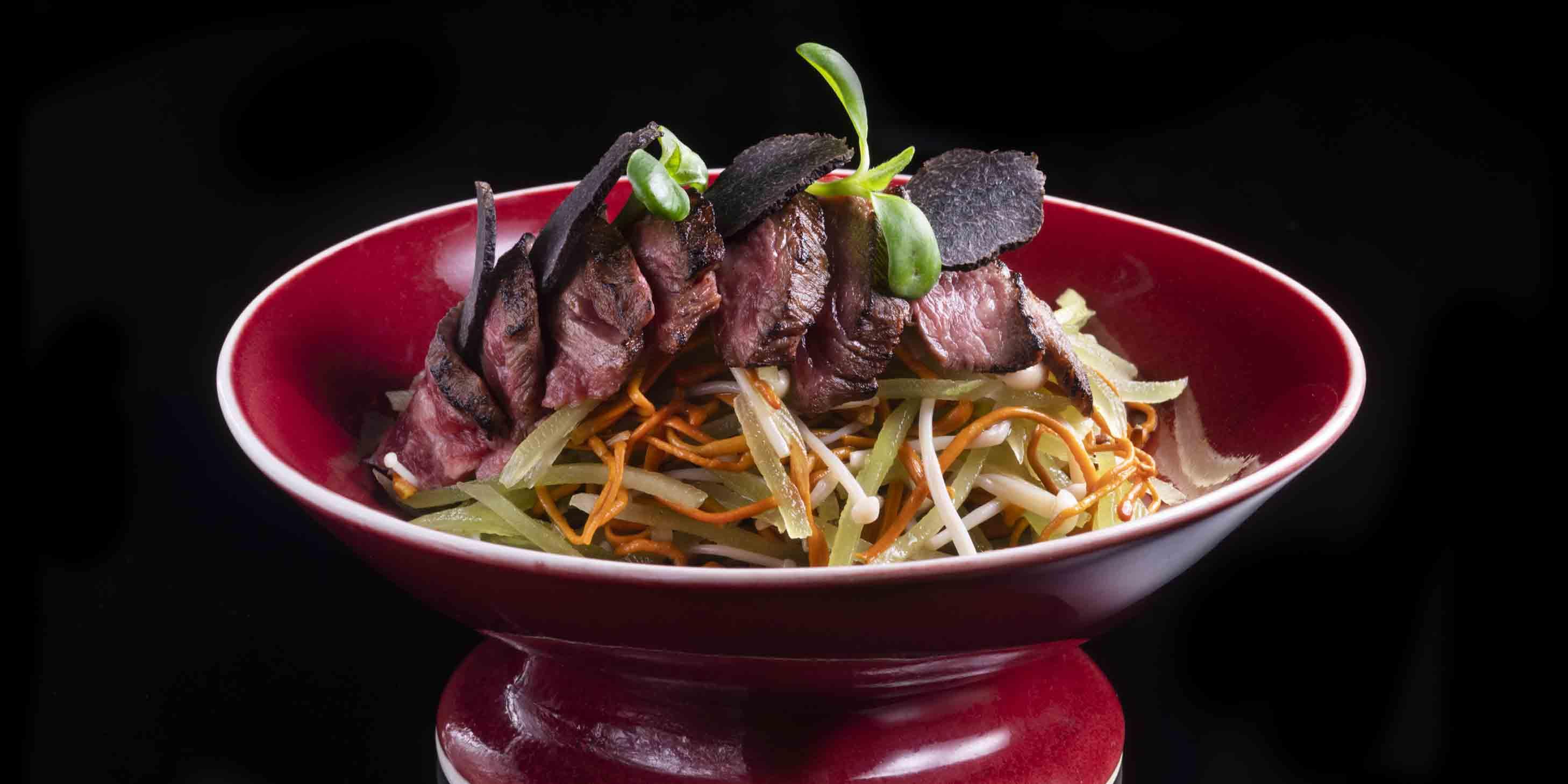 Beef Tongue Salad of Hakkasan located on the Bund, Huangpu