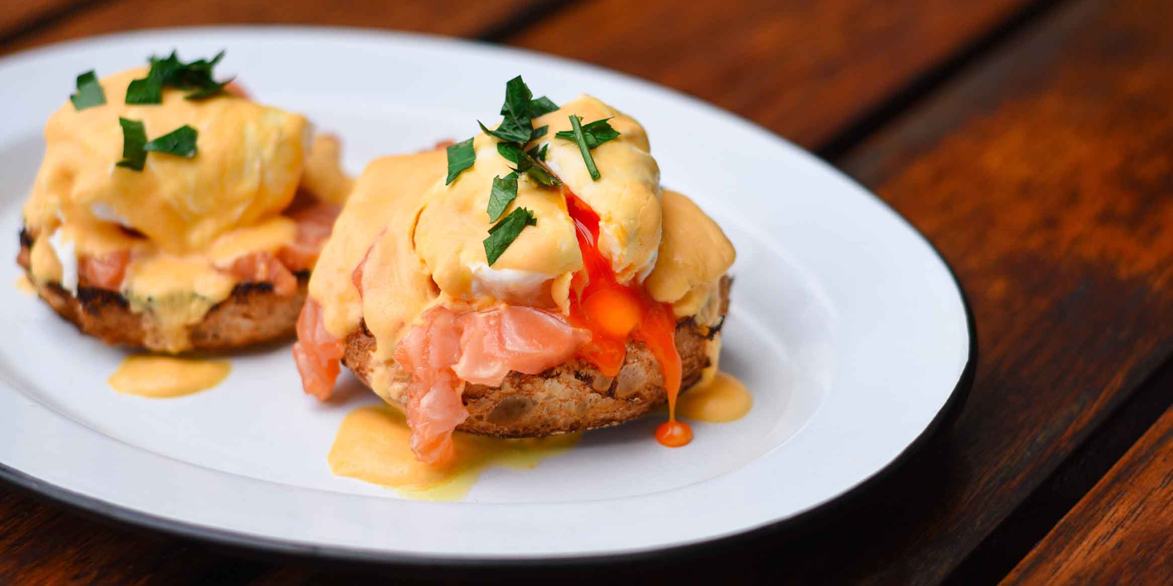 Benedict of Beef & Liberty (Kerry Parkside) located in Pudong, Shanghai