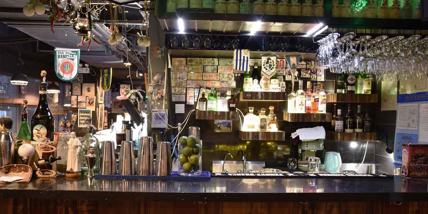 Bar of El Bodegon (Changshu Lu) located in Jing