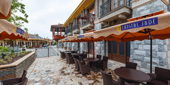 Outdoor Seating of Crystal Jade Restaurant (Disneyland) located in Pudong, Shanghai
