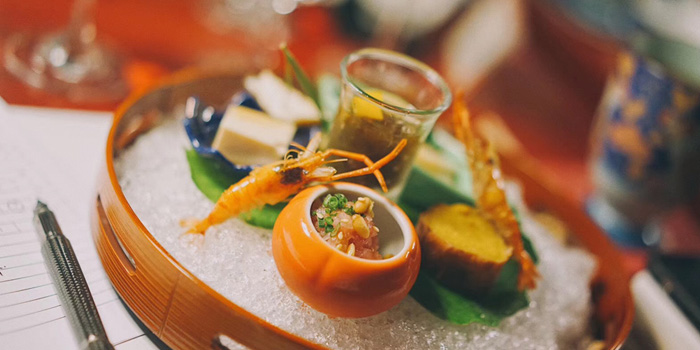 Appetizer of Kaiseki Ochobo located in Xuhui, Shanghai