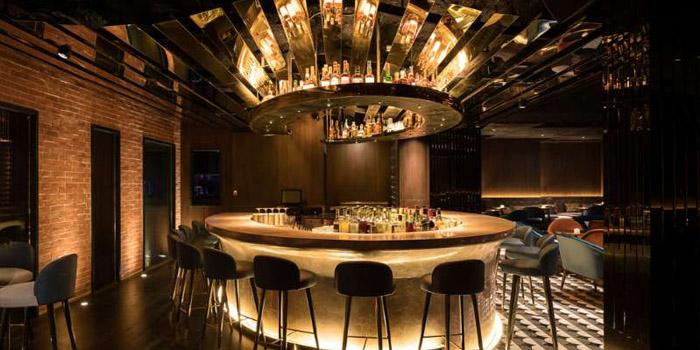 Bar of Shake Restaurant & Bar located on Maoming Nan Lu, Luwan District, Shanghai, China