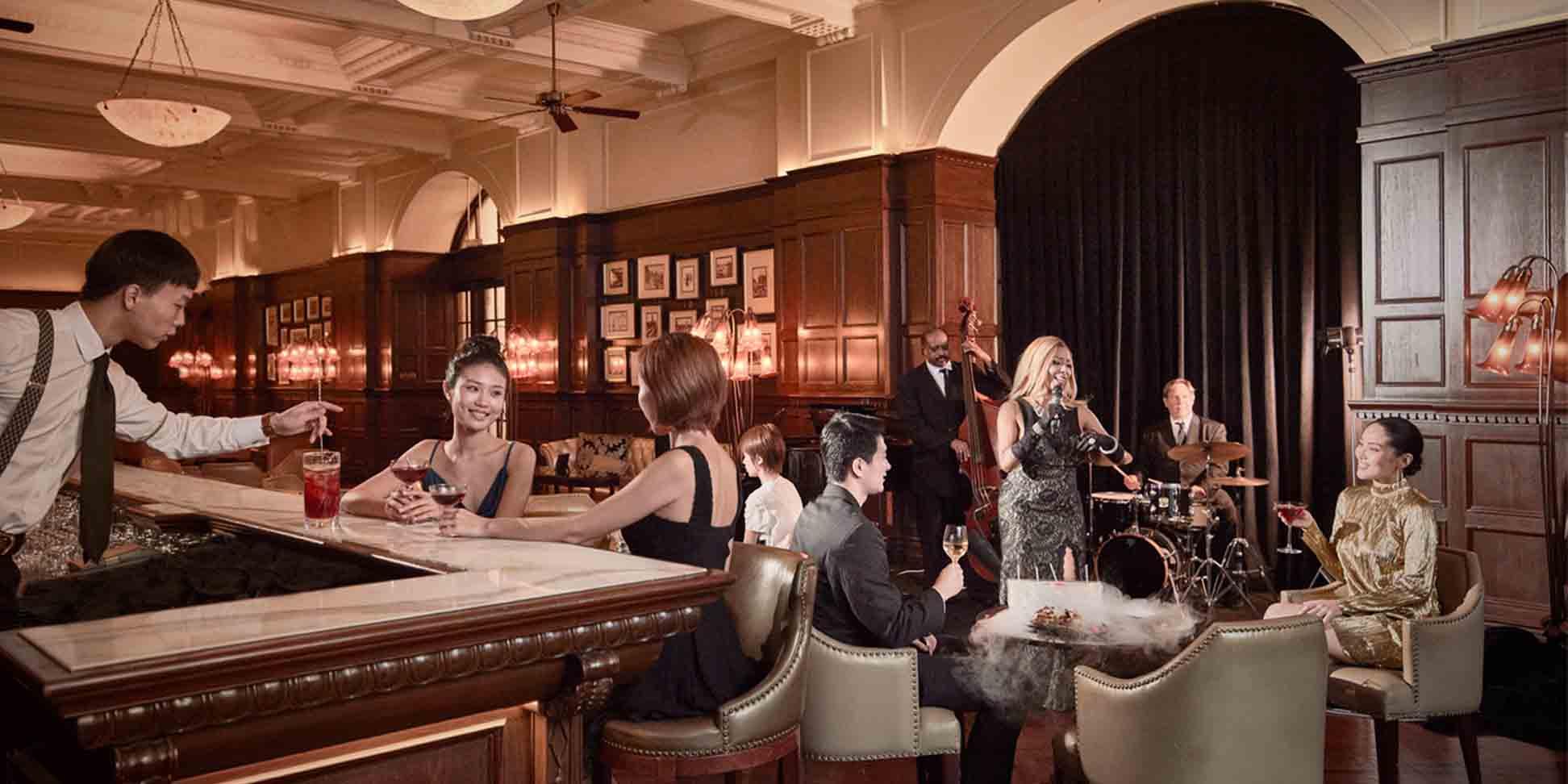 Indoor of Long Bar (Waldorf Astoria Shanghai on the Bund) located in Huangpu, Shanghai