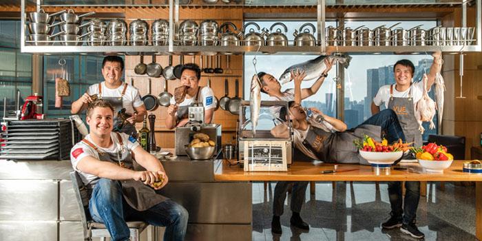 Kitchen Staff of VUE Restaurant in The Bund, Shanghai
