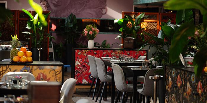 Indoor of of Xixi bistro located in Huangpu, Shanghai